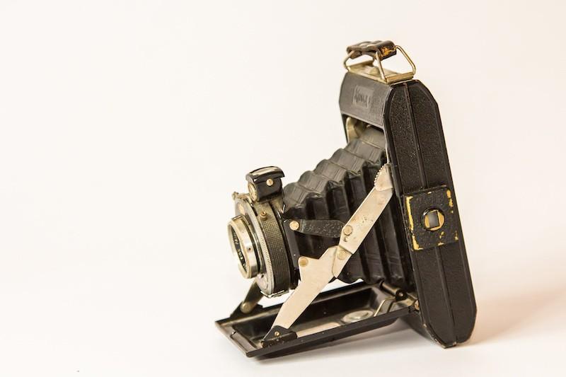 Antieke camera zij aanzicht