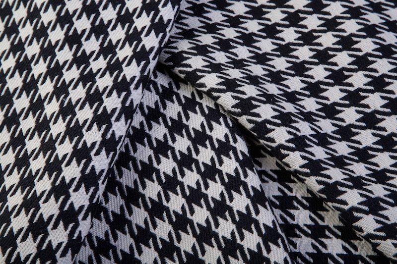 Pied-de-poule zwart