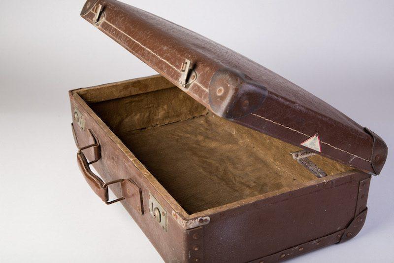 Vintage koffer bruin 2