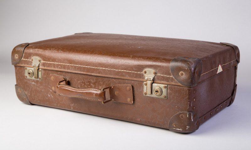 Bruin leren koffertje