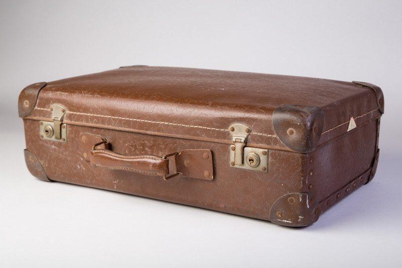Vintage koffer bruin 3