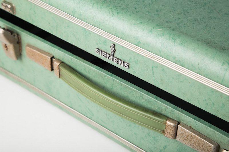 Vintage koffer groen 2