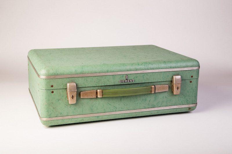 Vintage koffer groen